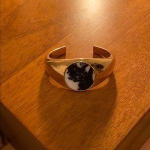 BN J. Crew Gold and Stone Cuff Bracelet